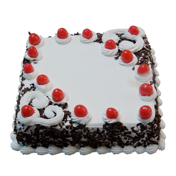 Birthday Cake Designs In Square : Square Blackforest cream Cake Online cake delivery in ...