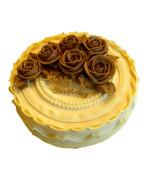 Rose creamy cake