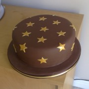 Stars Chocolate Cake
