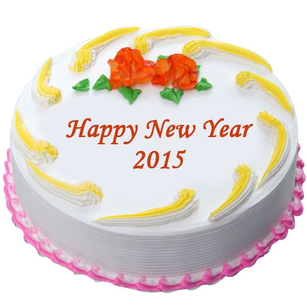New Year Pineapple Cake Online cake delivery in Hyderabad