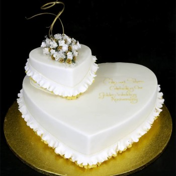 Heart on Heart Anniversary cake-3kgs