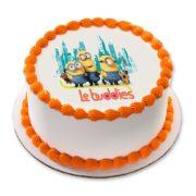 Minion photo cake