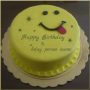 Funny Emoji cake