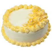 Yellow cream butterscotch cake