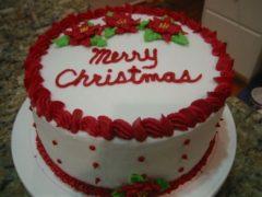 reddish christmas cake